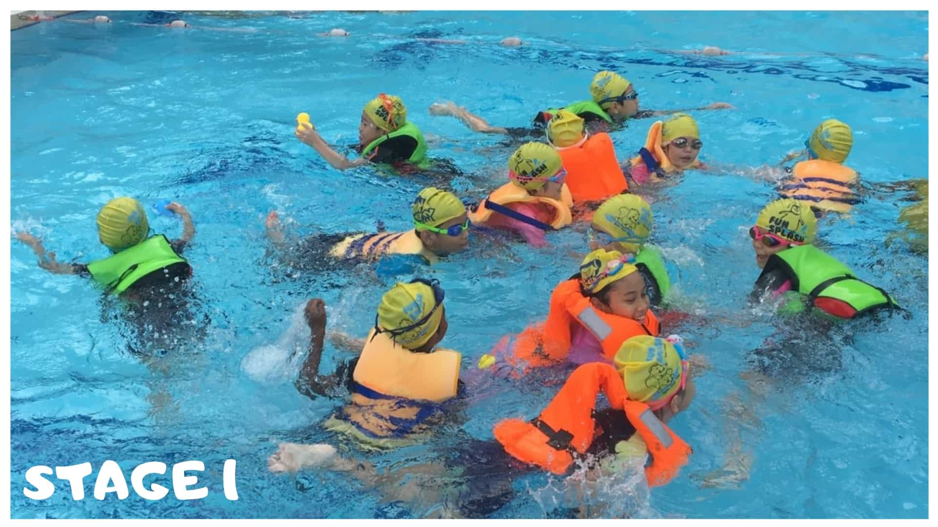 Stage 1 children swimming lessons singapore