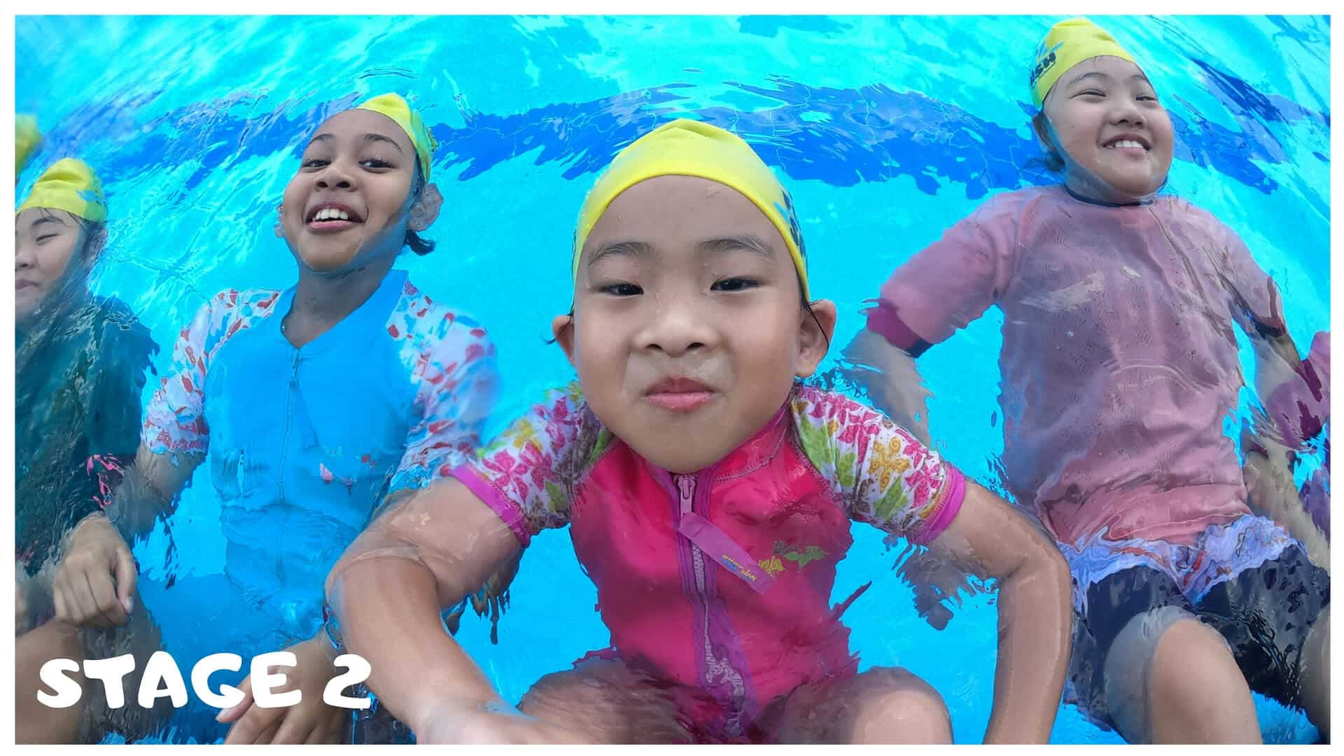 Stage 2 children swimming lessons singapore